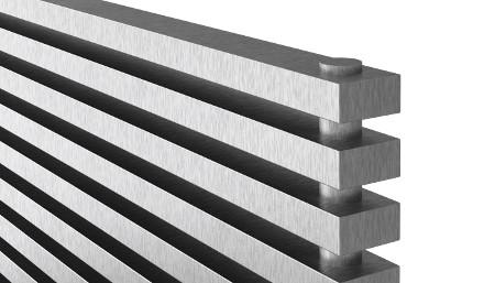 Grzejnik ze stali nierdzewnej - powierzchnia szlifowana